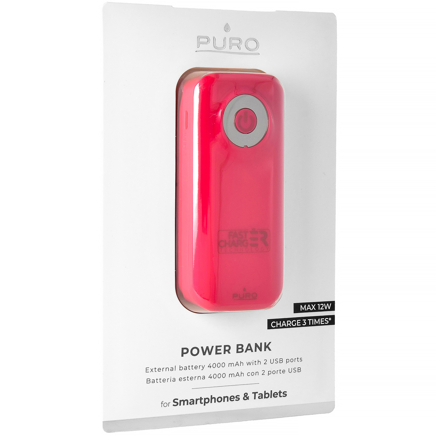 Oryginalna bateria Puro Power Bank Fast Charger 4000mAh