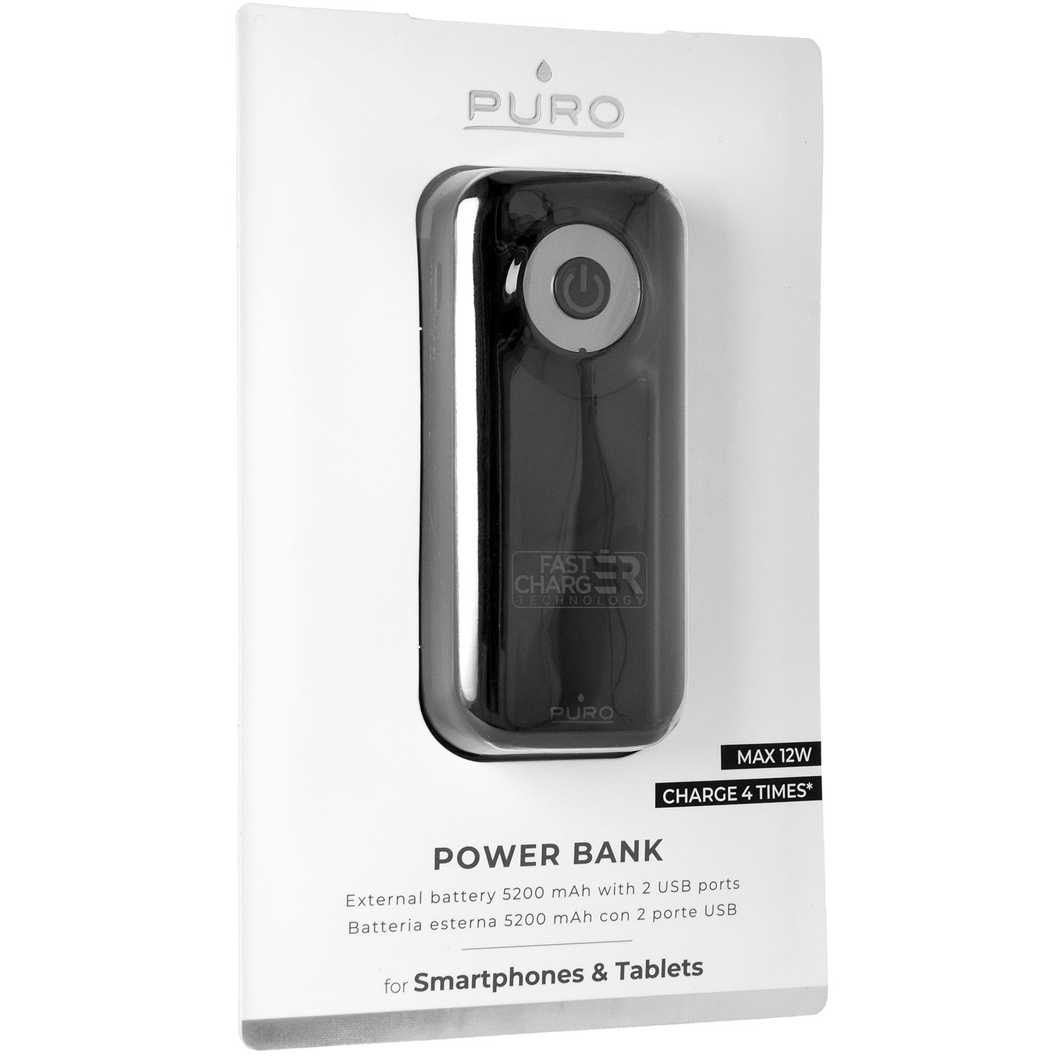 Oryginalna bateria Puro Power Bank Fast Charger 5200mAh