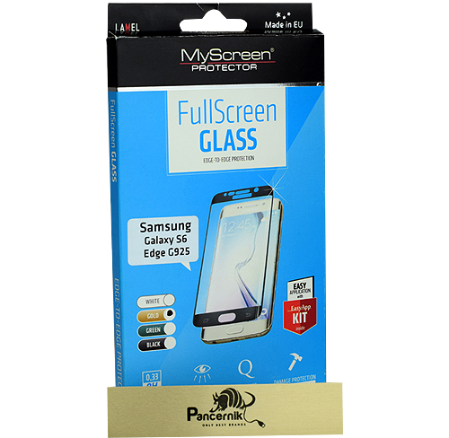 MyScreen FullScreen Glass Samsung Galaxy S6 Edge złote szkło