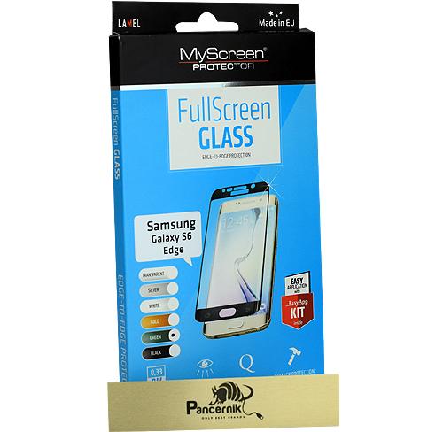 MyScreen FullScreen Glass Samsung Galaxy S6 Edge zielone szkło