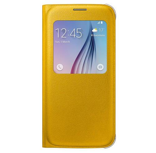Etui s view cover samsung galaxy s6 żółte yellow