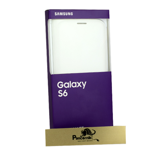 etui samsung galaxy s6 flip wallet białe