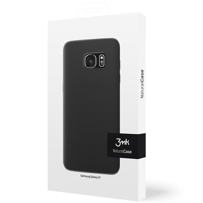 Cienkie etui 3mk NaturalCase 0,3mm do Samsung Galaxy S7, transparentne czarne (Black).