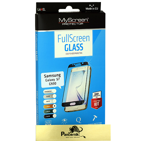 MyScreen FullScreen Glass Samsung Galaxy S7  złote szkło