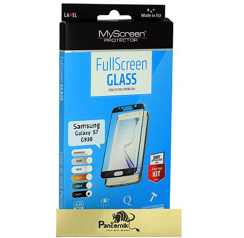 MyScreen FullScreen Glass Samsung Galaxy S7  czarne szkło