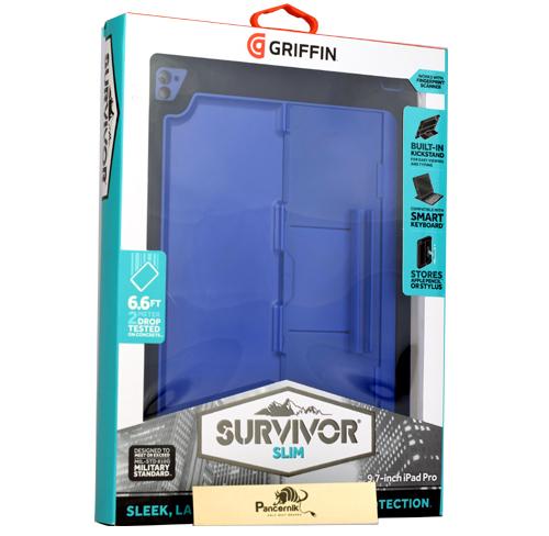 Etui Griffin Survivor Slim iPad PRO 9.7,  niebieskie