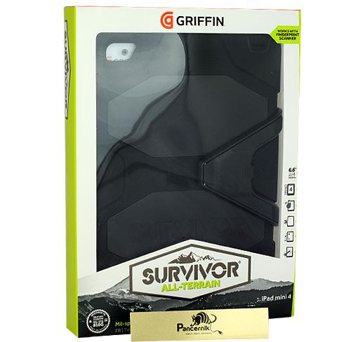 Etui Apple iPad Mini 4 Griffin Survivor all-terrain czarne black