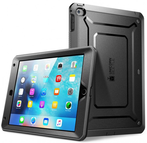 etui supcase unicorn beetle pro iPad Mini 4 black, czarne