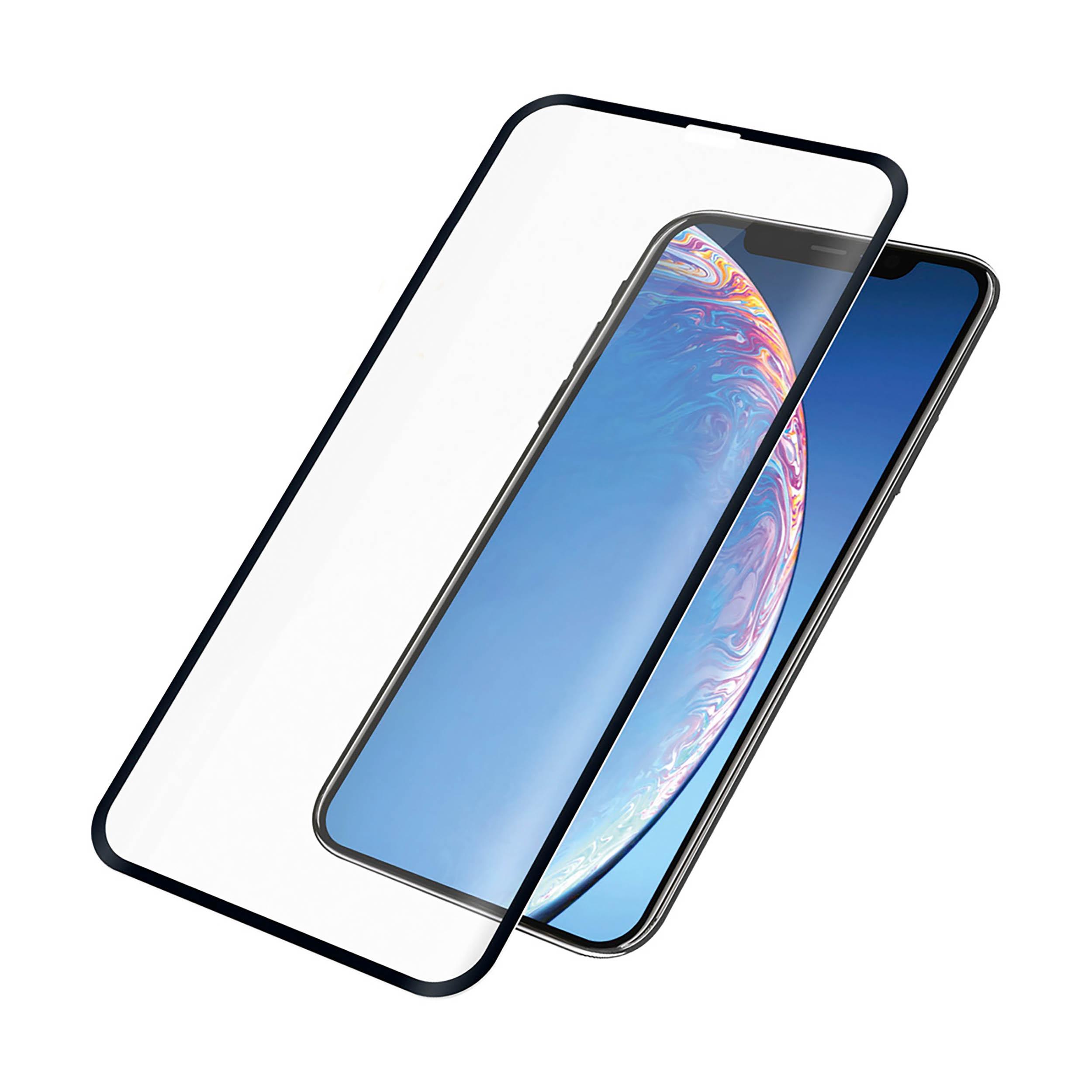 Glas PanzerGlass CE iPhone 11 Pro Max, Xs Max, schwarzer Rahmen    Guerteltier