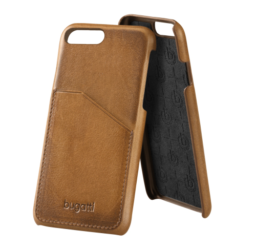 Etui Bugatti Snap Case Londra iPhone 7 Plus, koniakowe