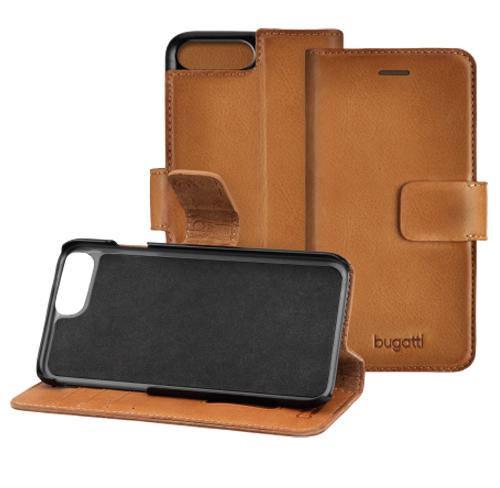Bugatti Leather booklet Case iphone 7 plus cognac