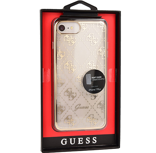 Etui Guess Soft Case iPhone 7 Plus Signature, Gold