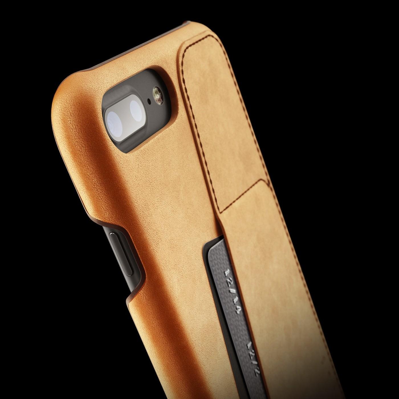super popular 11464 86e3b Etui skórzane Mujjo Leather Wallet Case iPhone 8 Plus, 7 Plus, brązowe