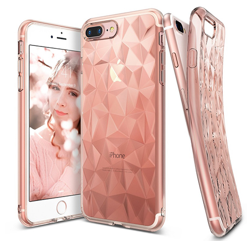 Etui Rearth Ringke Air Prism Apple iPhone 7 Plus, Rose Gold + Folia