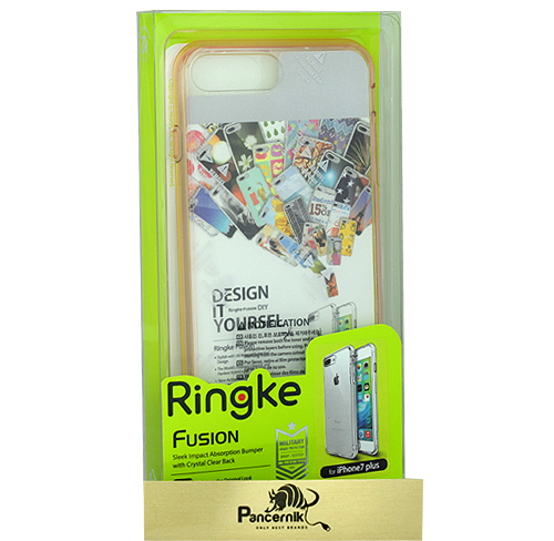 Etui Ringke Fusion iphone 7 Plus rose gold