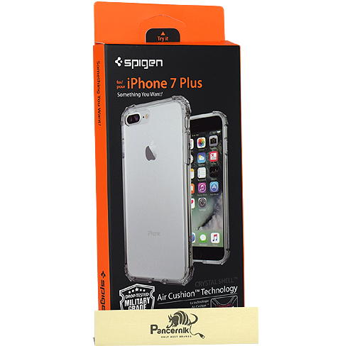 Etui Spigen crystal shell iphone 7 Plus dark crystal