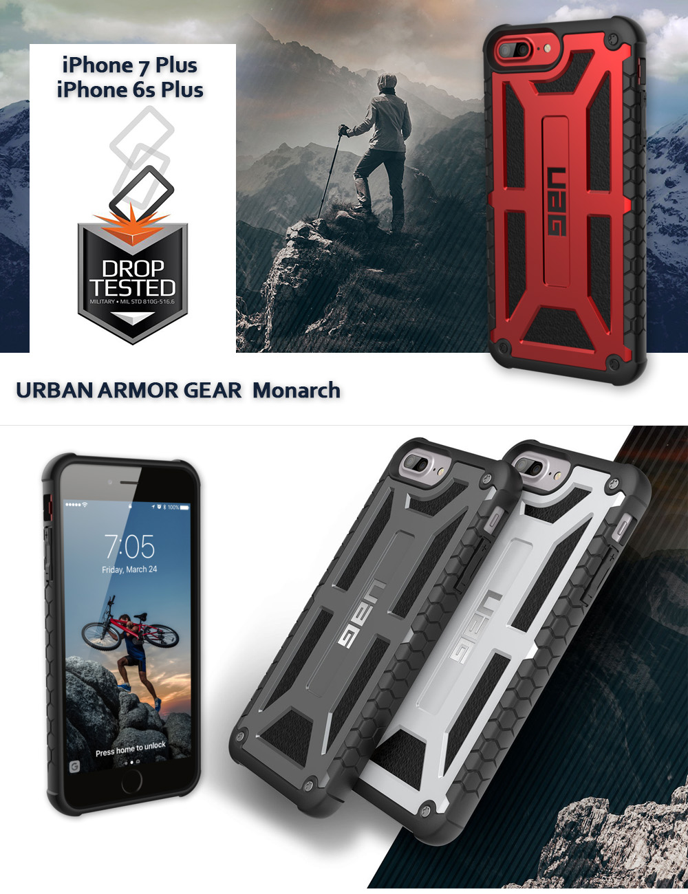 Etui Urban Armor Gear Monarch dla iPhone 7,6s Plus