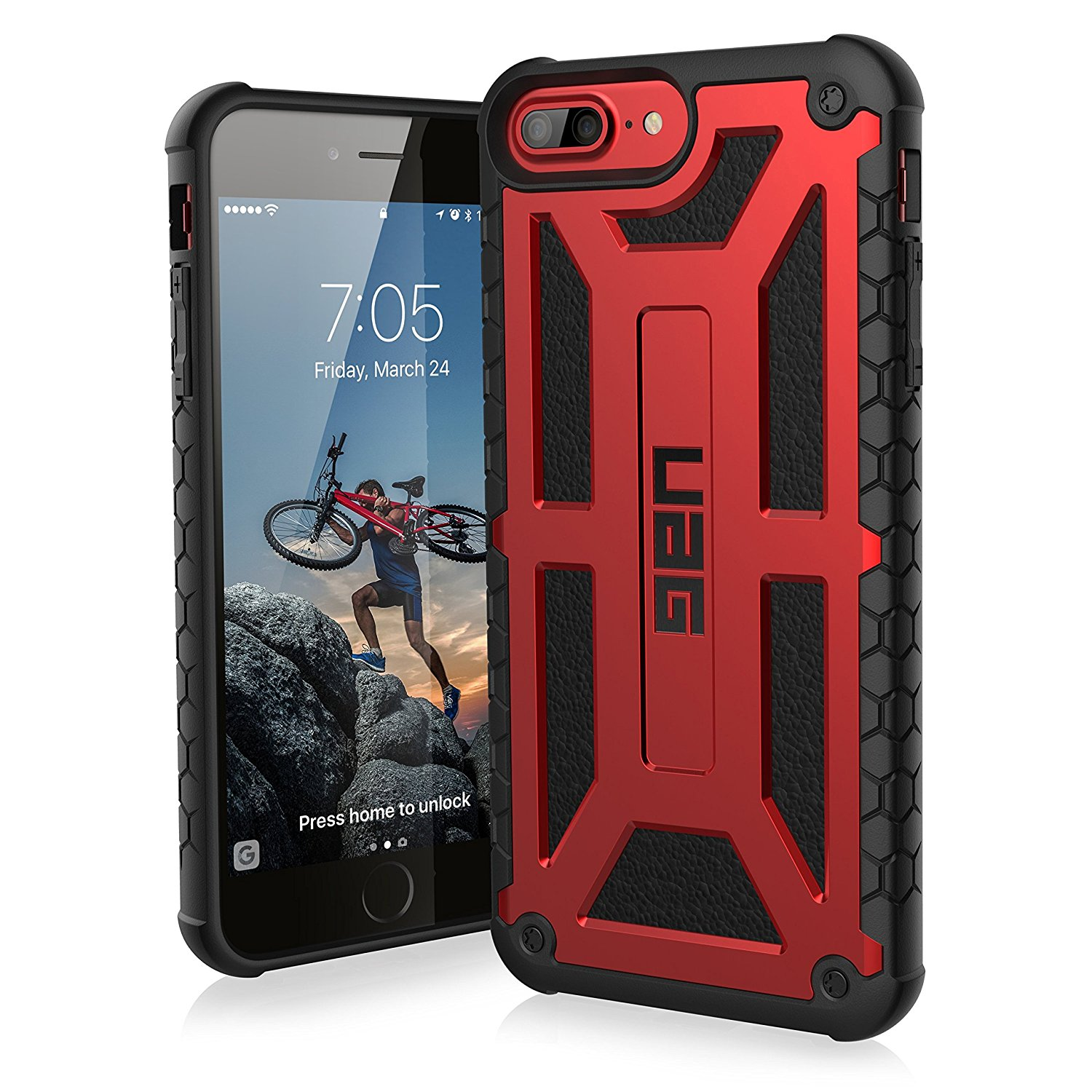 Etui Urban Armor Gear Monarch dla iPhone 7,6s Plus front