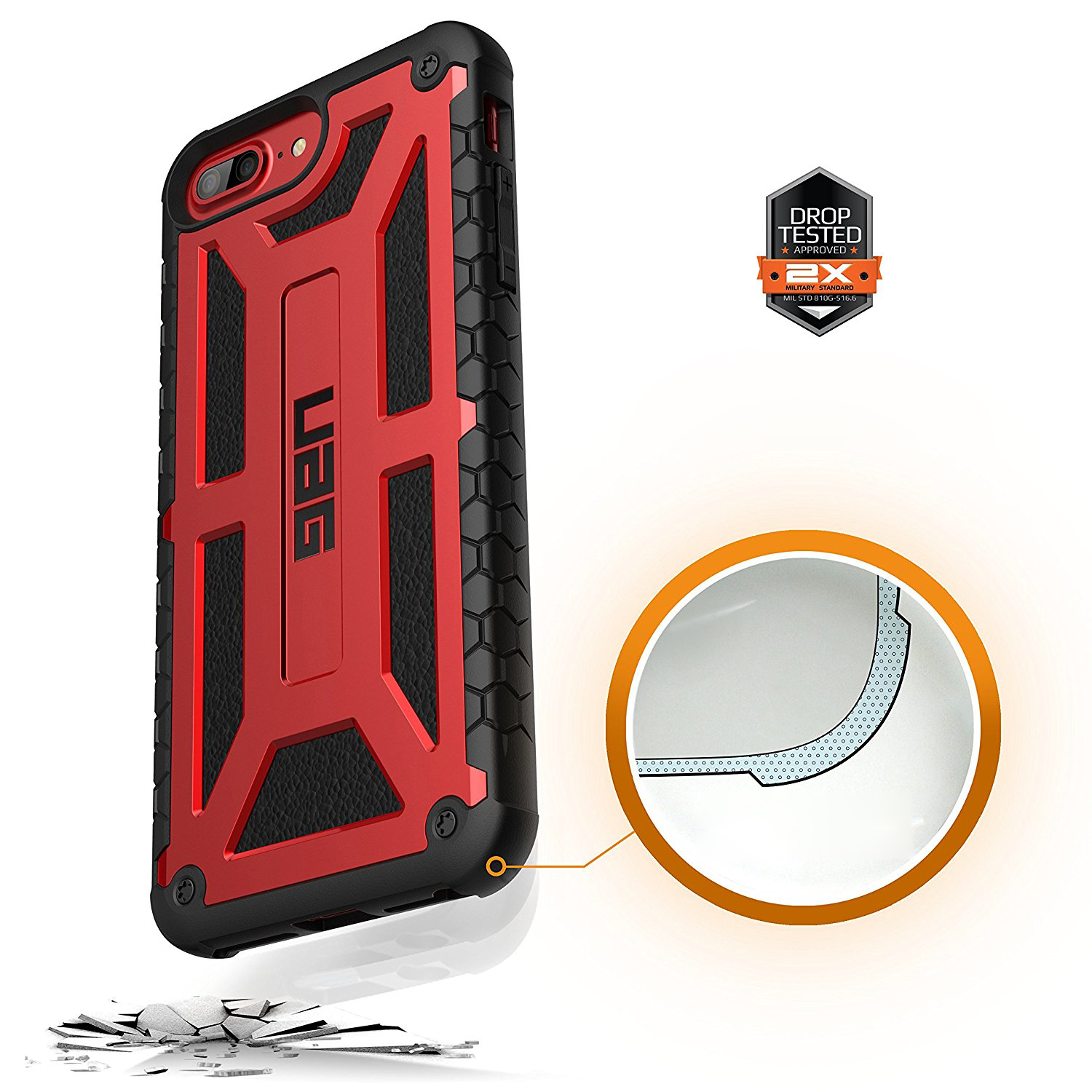 Etui Urban Armor Gear Monarch dla iPhone 7,6s Plus przód