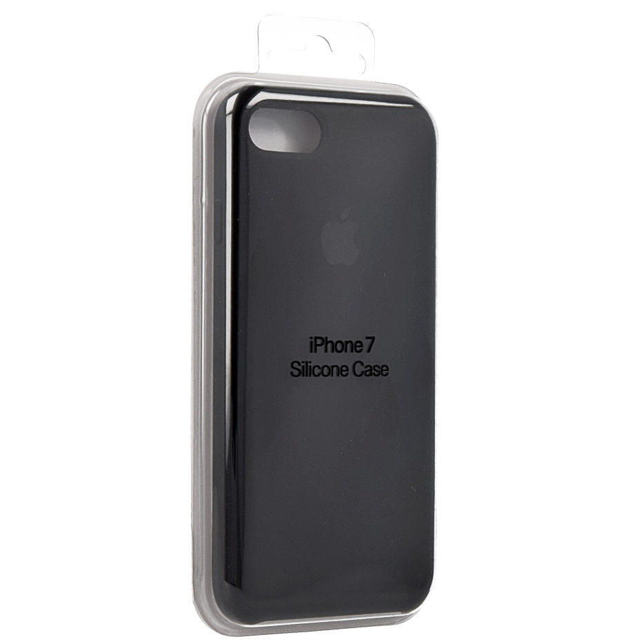 Etui Apple silicone case silikonowe iphone 7 black czarne.