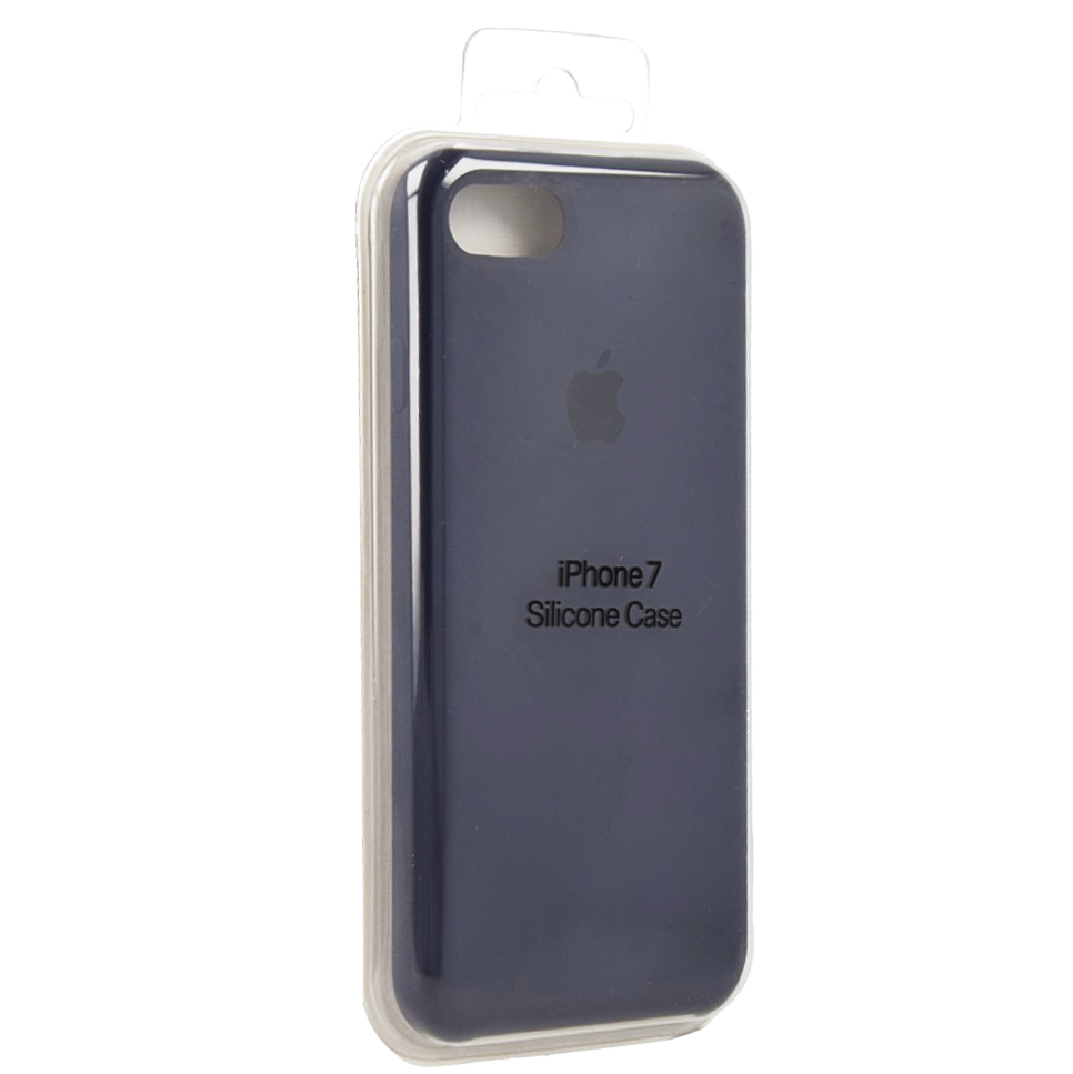 Etui silikonowe Silicone Case iPhone 7, nocny błękit (Midnight Blue).