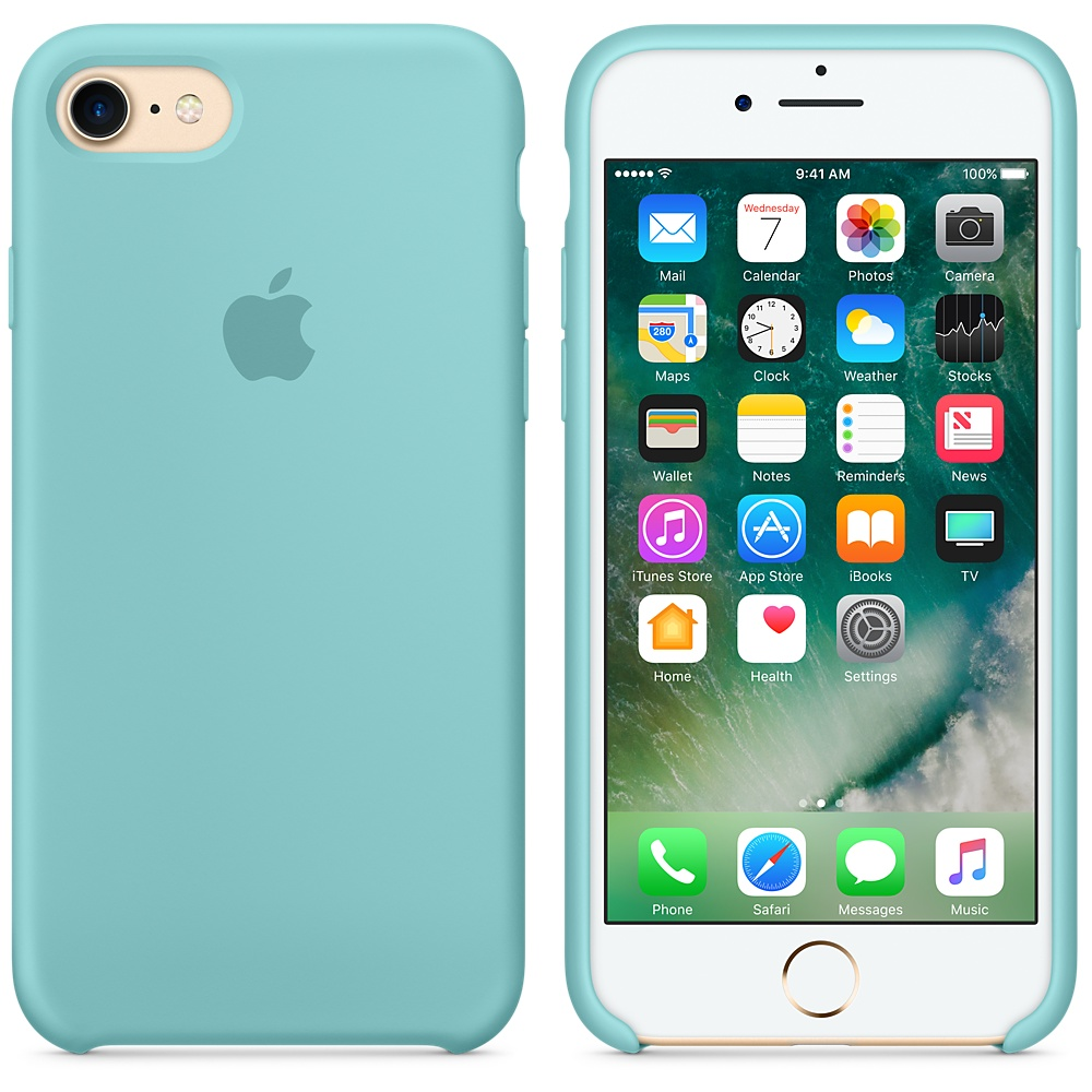 Etui silikonowe Apple Silicone Case iPhone 7, morski błękit (Sea Blue). .