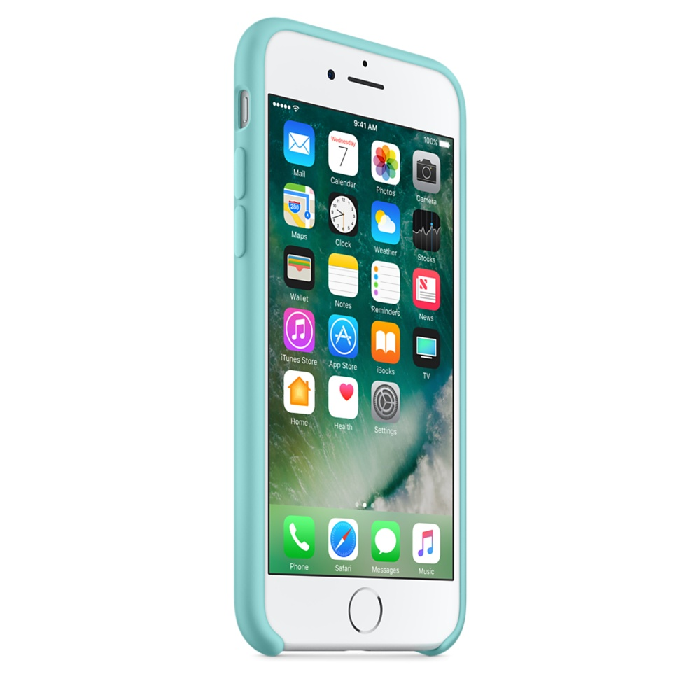 Etui silikonowe Apple Silicone Case iPhone 7, morski błękit (Sea Blue).