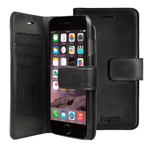 Bugatti Leather booklet Case iphone 7 black