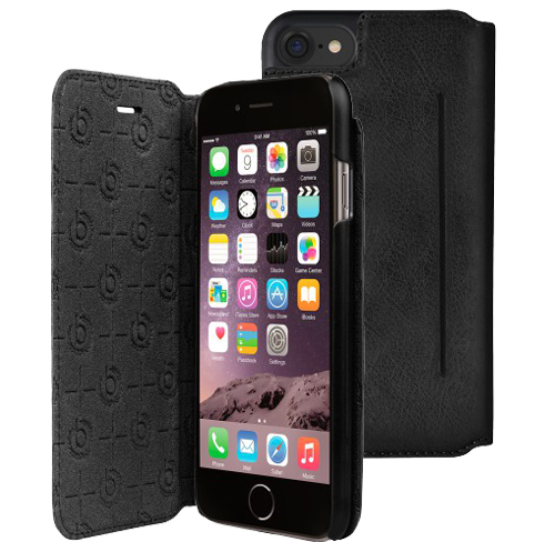 Bugatti Leather booklet Case iphone 7 black
