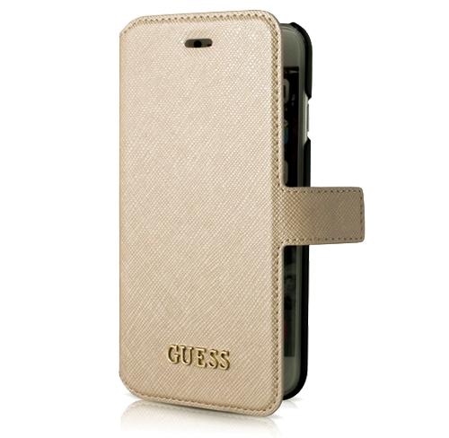 Etui Guess folio case iphone 7 beige beżowa