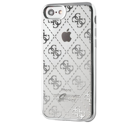 Etui Guess Soft case iphone 7 srebrna silver