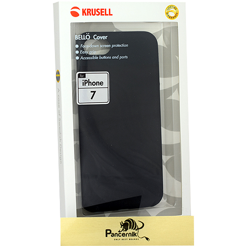 Krusell Bello Cover iPhone 7 czarne
