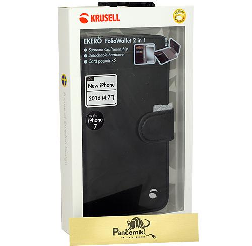 Etui Krusell Ekero FolioWallet 2w1 czarne iPhone 7