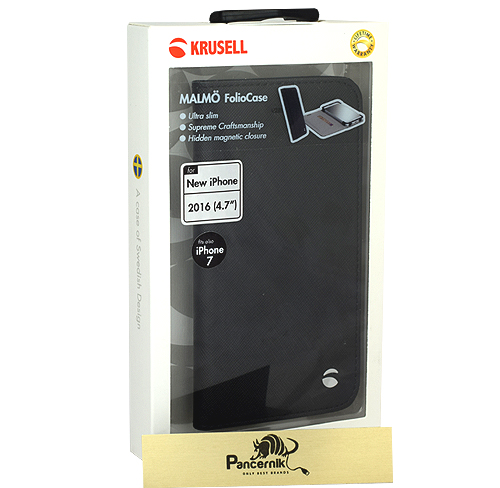 Etui Krusell malmo Foliocase iPhone 7 czarne