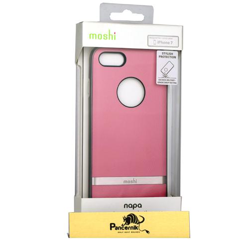 etui moshi napa iphone 7 pink