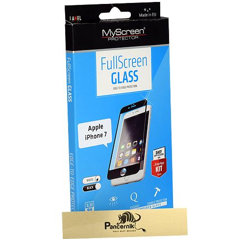 Szkło Myscreen fullscreen iphone 7 białe white biała ramka