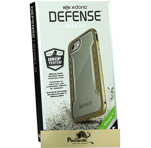 etui x-doria defense shueld  iphone 7  gold, złote