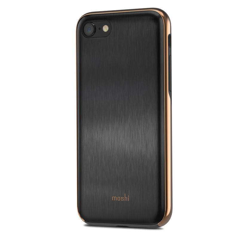 Etui, plecki Moshi iGlaze do iPhone 8, 7, czarne (Armour Black).