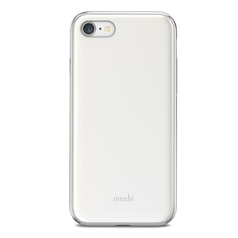 Etui, plecki Moshi iGlaze do iPhone 8, 7, perłowa biel (Pearl White).