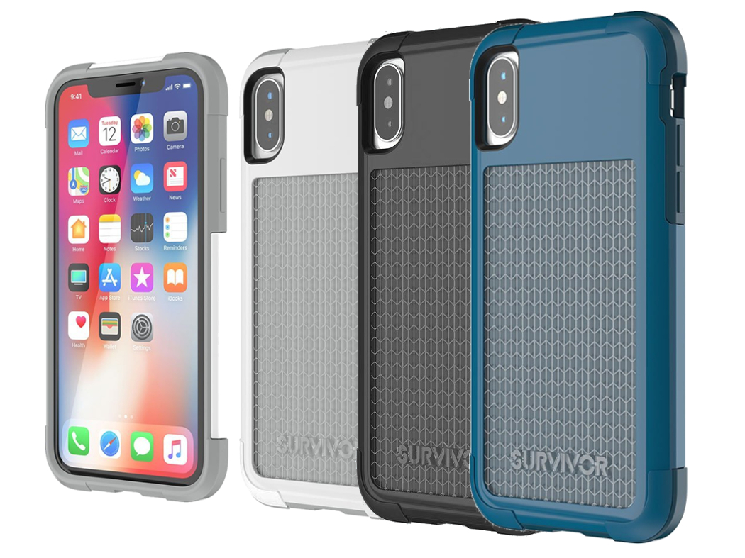 Pancerne etui od marki Griffin z serii Survivor Fit dla iPhone X, 10.