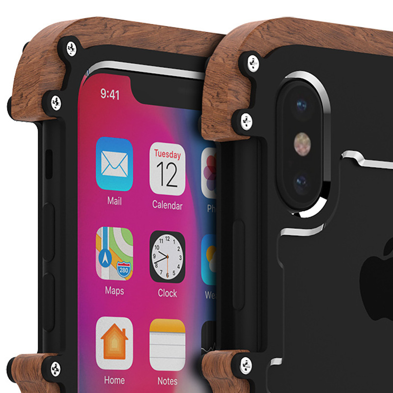 Oryginalne etui marki R-Just Ironwood dla iPhone X/ 10