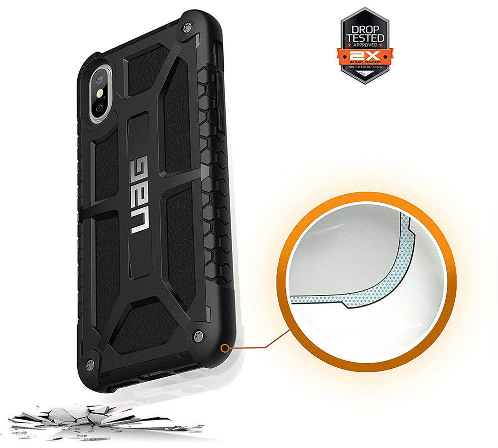 Etui Urban Armor Gear Monarch dla iPhone X/10 przód