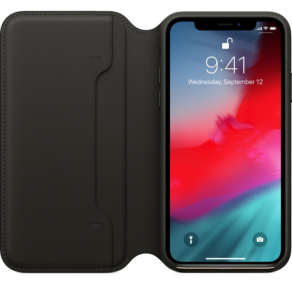 Etui skórzane Apple Leather Folio do iPhone X/Xs