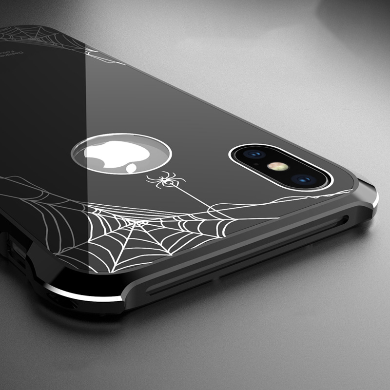 Oryginalne etui marki R-Just dla iPhone Xs Max, Spiderman case