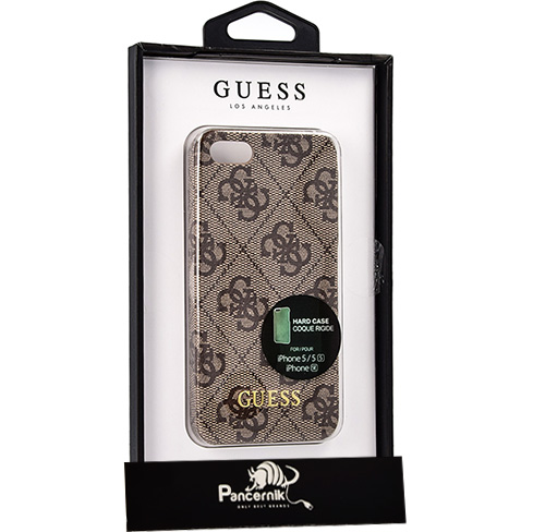 Etui guess hard case 4G Uptown iphone SE 5S 5 brązowe