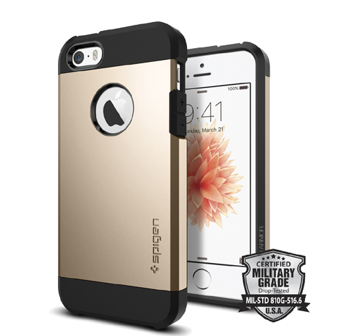 Spigen Tough Armor iPhone SE/5s/5 Champagne Gold