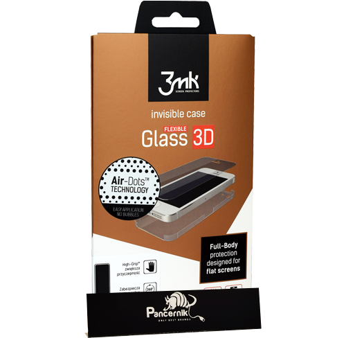 szkło, folia na całość 3mk flexible glass 3D high-grip iphone 6 6s