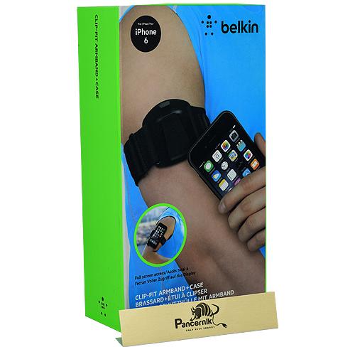 etui opaska na ramię belkin clip-fit+ case brassard armband iphone 6,6s czarne