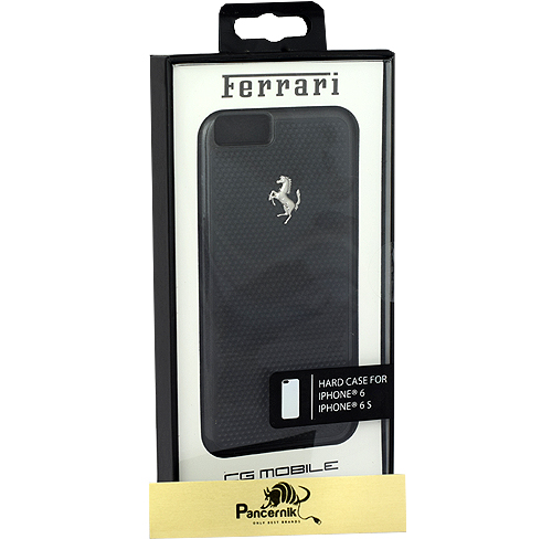Etui Ferrari CG Mobile hard case aluminium iphone 6 6s czerwone, czarne