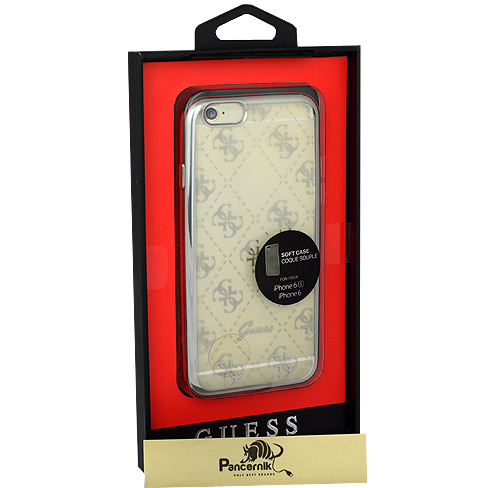 Etui Guess Soft case iPhone 6,6s srebrne